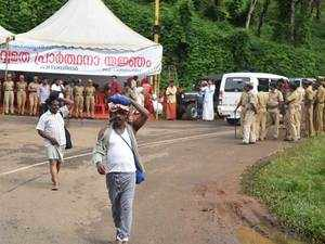 Sabarimala temple doors open again, Police deployment stepped up