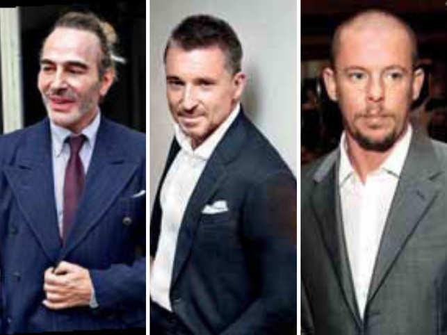 From left: John Galliano, Jean Marc Pontroué, Alexander McQueen