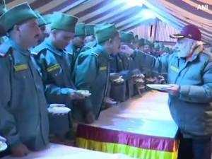 Prime Minister Modi celebrates Diwali with Jawans in Uttarakhand