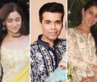 Diwali Fun Continues At K-Jo's; Alia, Sara Ali Shine In Embroidered Outfits