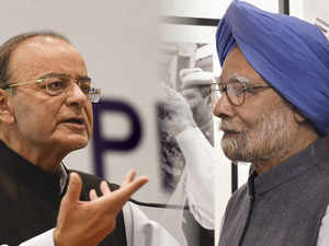 Jaitley, Manmohan spar on 2 years of notebandi