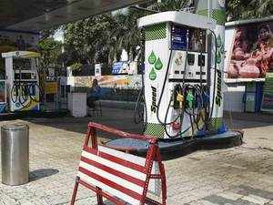 Fuel prices slump 15 paise each in Delhi