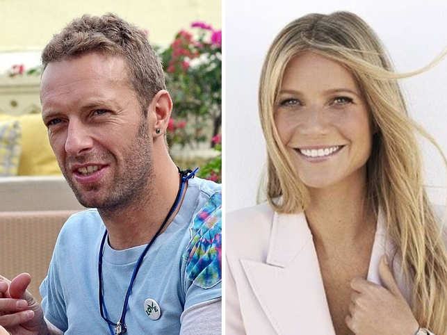 Chris Martin (L), Gwyneth Paltrow
