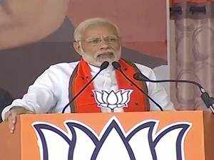 PM Modi puts Gandhi family in crosshairs at election rally in Bilaspur