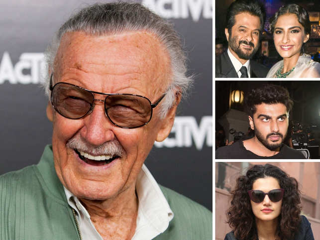 Stan Lee in big pic; (Top to bottom) Anil Kapoor, Sonam Kapoor, Arjun Kapoor & Taapsee Pannu