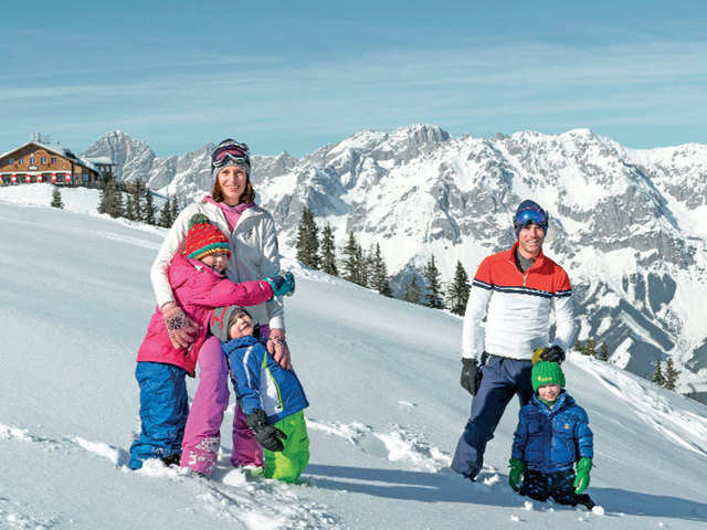 Spend time outdoors, hike on well-set trails and soak up the sun in Austria this winter