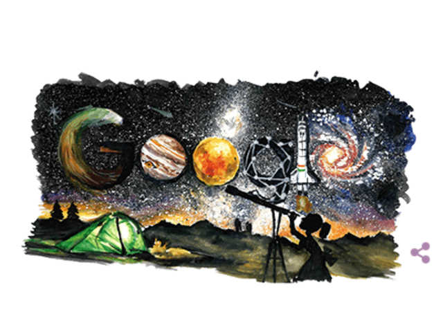 Google marks Children's Day with space exploration doodle