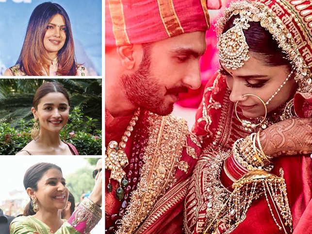 Deepika-Ranveer get hitched: Priyanka & Alia post hearts, Anushka welcomes them to the club