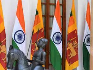 India,-Sri-lanka-flags