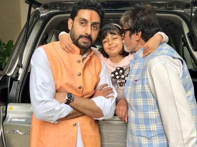 Abhishek Bachchan, Aaradhya Bachchan, Amitabh Bachchan