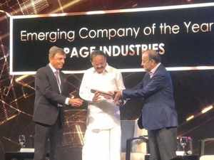 Page Industries gets ET Award for Emerging Company of the Year