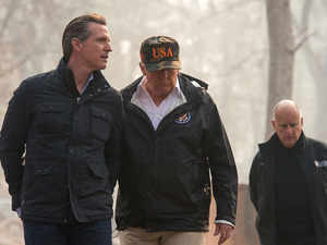 Trump sees California wildfire devastation up close