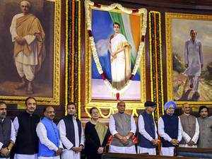 Political leaders pay tribute to Indira Gandhi on her 101st birth anniversary