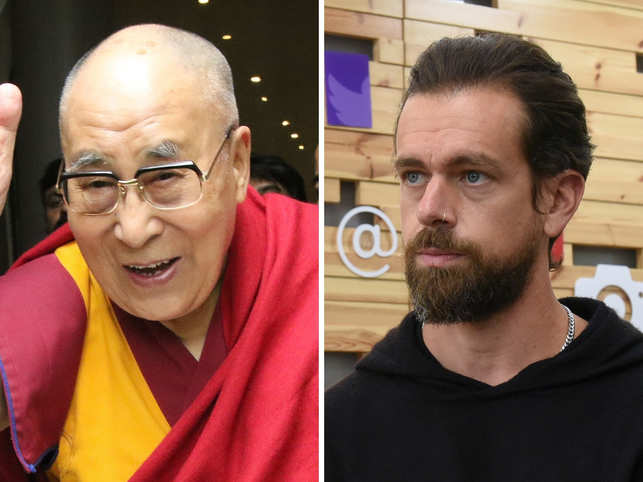 Dalai Lama and Jack Dorsey