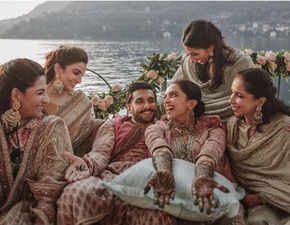 Deepika Padukone and Ranveer Singh's mehendi pictures from Lake Como look right out of bridal dreamland