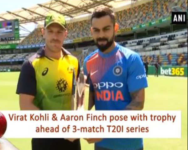 India vs Australia: Captains of both teams pose with trophy ahead of match