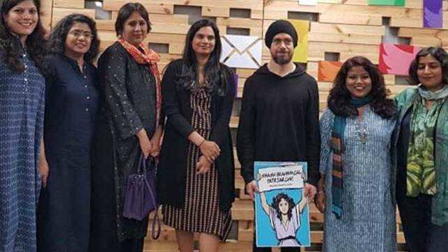 Twitter CEO stirs up controversy for posing with 'Smash Brahmanical Patriarchy' placard