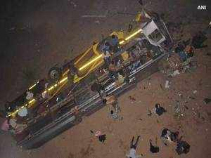 12 killed, 49 injured as bus falls from bridge in Odisha's Cuttack