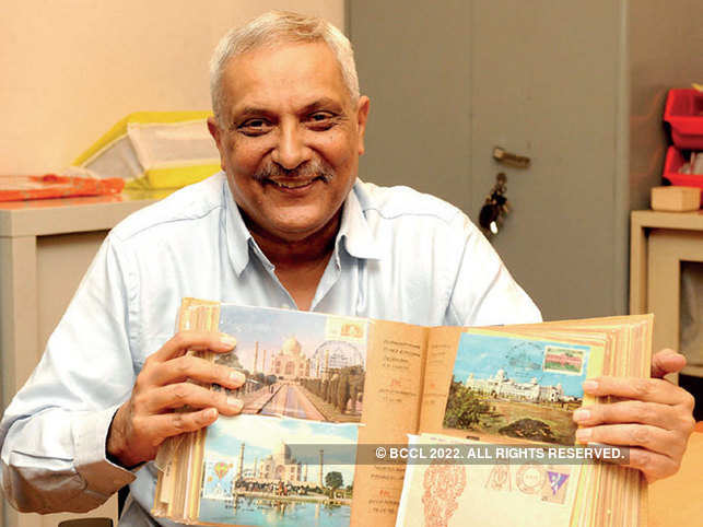 Sushil Mehra with his collection.