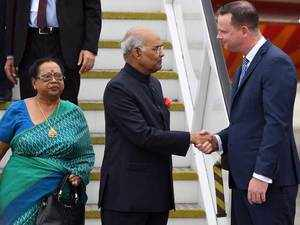 Watch: President Ram Nath Kovind arrives in Australia