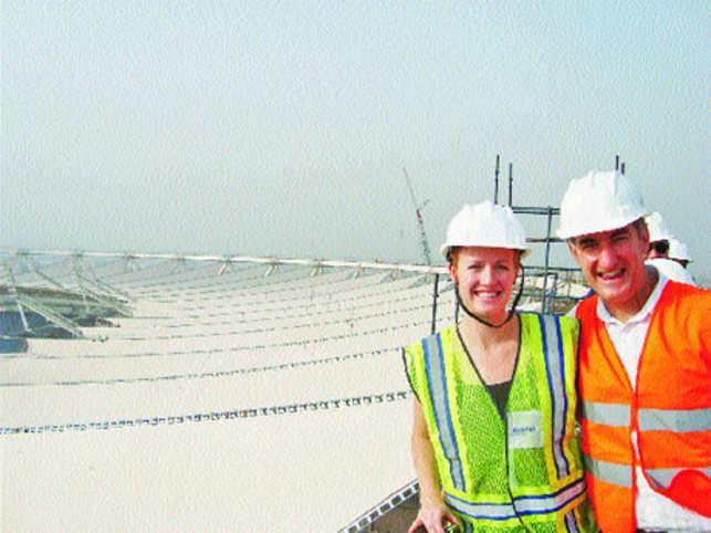 Richard MacDonald with his colleague Sarah Mangelsdorf.