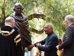 President Kovind unveils Mahatma Gandhi statue in Sydney
