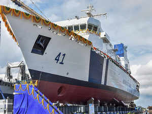 Two fast patrol vessels for Coast Guard launched