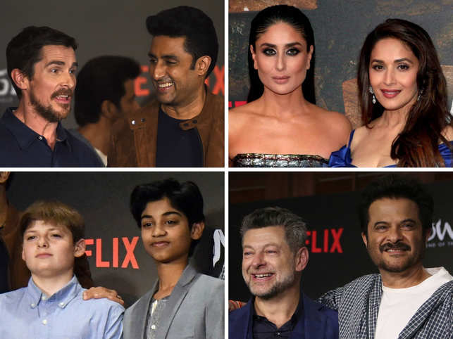B-Town celebs bond with Hollywood stars at the 'Mowgli: Legend of The Jungle' Premiere in Mumbai.  This was the first time a Hollywood film premiered in India first.  Who's who of the film fraternity like Kareena Kapoor, Madhuri Dixit, Anil Kapoor, Christian Bale, Abhishek Bachchan, among others, have given their voice to the Andy Serkis- directorial.  Here's a look at how the red carpet event turned out:  (Image: AP & AFP)