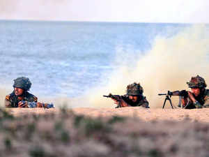 Three services conduct joint drill off Goa and Karwar coasts