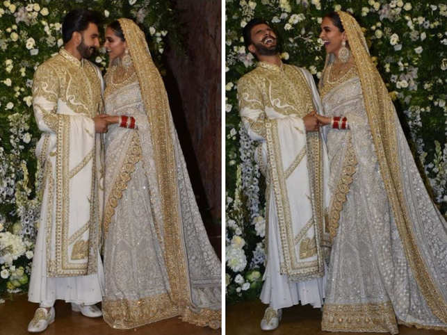 Deepika Ranveer Are A Royal Dream In Ivory And Gold At Mumbai Reception