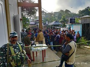 Voting percentage falls in Mizoram to 80%