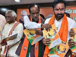 Telangana Polls: BJP releases party manifesto, promises cows to 1 lakh people every year