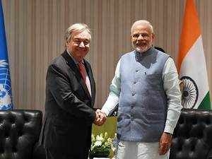 G20 Summit: PM Modi holds meeting with UN Secretary-General, discusses climate change
