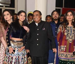 Mukesh, Nita Ambani along with daughter Isha, son Anant attend Priyanka-Nick's sangeet in Jodhpur