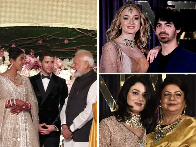 Priyanka Chopra and Nick Jonas hosted their reception in Delhi.  Just like their Jodhpur wedding, the Delhi reception was a fiercely-guarded event.  PM Narendra Modi made a special appearance amid tight security.  Here's a look at the event.