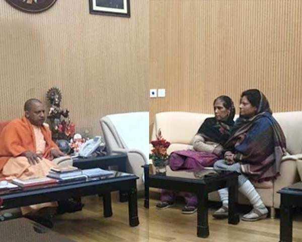 Bulandshahr violence: Family of Inspector Subodh Kumar meets UP CM Yogi  Adityanath