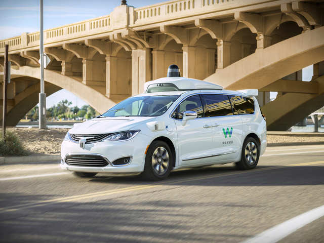 Waymo tests self-driving cars with an expert at the back