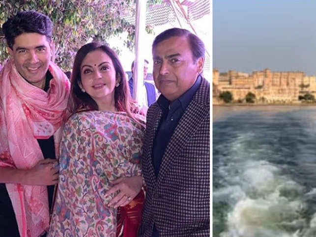 Ambanis in Udaipur for Isha's pre-wedding ritual; lavish set-up for 'Maha Aarti'