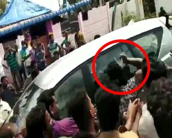 On cam: Tamil Nadu Minister OS Manian's car attacked by a sickle-wielding  man