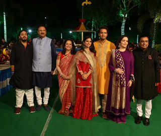 Isha-Anand, families in tow, kick off pre-wedding celebrations with 'Anna Seva' in Udaipur