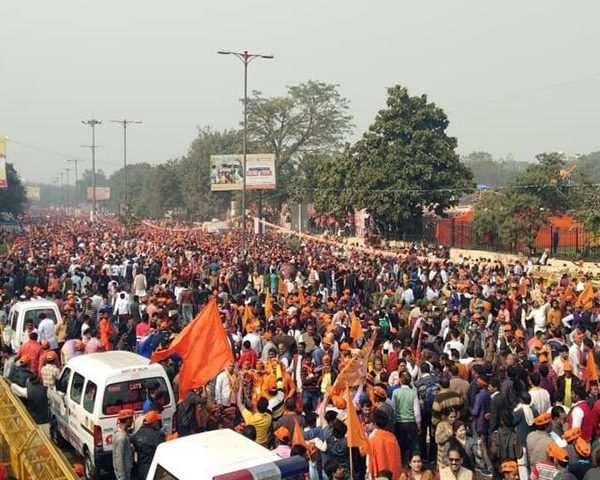 VHP holds massive rally for Ram Temple at Delhi's Ramlila Maidan