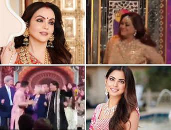 Nita Ambani dances with Tina at Isha's 'sangeet'; Hillary Clinton shakes a leg with SRK