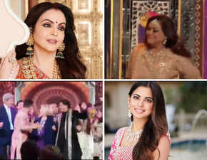 Nita Ambani dances with Tina at Isha's 'sangeet'; Hillary Clinton shakes a leg with SRK