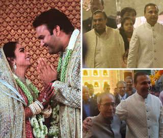 Isha & Anand get married at 'Antilia': Mukesh, Anil Ambani greet guests; Pranab Mukherjee, Hillary Clinton attend