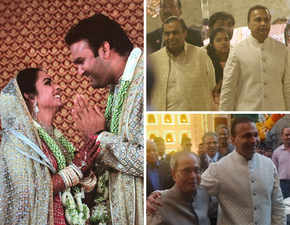 Isha-Anand's wedding at 'Antilia': Mukesh, Anil Ambani greet guests; Pranab Mukherjee, Big B, Hillary Clinton attend