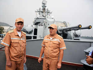 Russian Navy ships arrive in Vizag for INDRA NAVY 2018 drills
