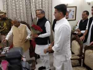 Watch: CM designate Ashok Gehlot arrives in Jaipur