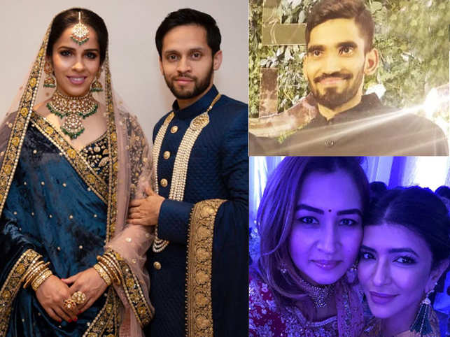 Saina-Parupalli reception: Newly-weds host grand party in Hyderabad; Srikanth Kidambi, Jwala Gutta attend