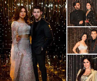 Priyanka-Nick's Bollywood Reception: DeepVeer Win Hearts In Black, Katrina Shines In Gold