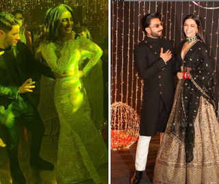 Priyanka shakes a leg with 'Bajirao' co-stars DeepVeer; grooves to 'Desi Girl' with hubby Jonas